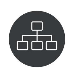 Monochrome round scheme icon vector
