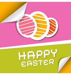 Paper Easter Eggs on Paper Background vector image vector image