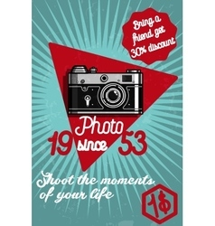 Photography color banner vector image