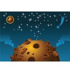 Space scene vector image vector image