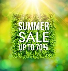 Summer sale advertisement poster blurred vector