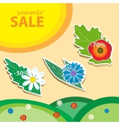 Summer sale pricetags vector image vector image