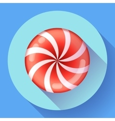 Sweet lollipop candie icon Flat design style vector image