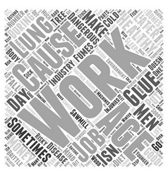 The work environment in healthy aging word cloud vector