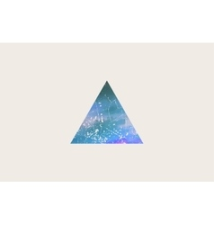 triangle logo design grunge triangle beautiful vector image vector image