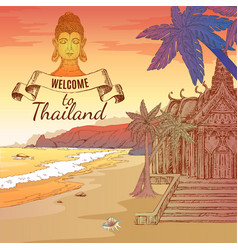 Welcome to thailand background vector