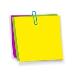 Yellow pink green sticky notes vector