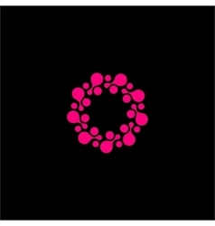 Isolated abstract pink color flower logo vector