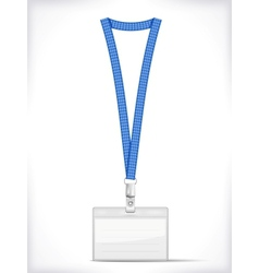 Lanyard with Tag Badge Holder vector image
