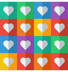 Hearts in flat icon style vector