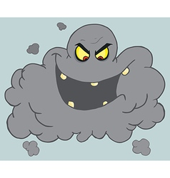 Royalty free rf clipart cartoon black cloud of vector