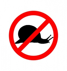 Prohibition sign for slugs vector
