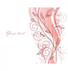 floral doodle vector image