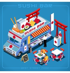 Food truck 06 vehicle isometric vector