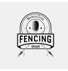 Fencing badges logos and labels for any use vector