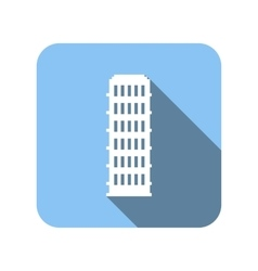 Nice house flat icon vector
