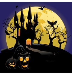 Haunted halloween castle2 vector