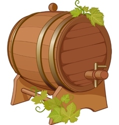 Wine cask vine decorated vector