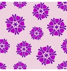 Seamless background lilac boho chic vector
