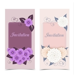 Floral color design vector