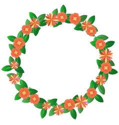 Red wreath vector image