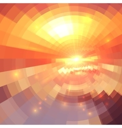 Abstract orange technology concentric mosaic vector image vector image