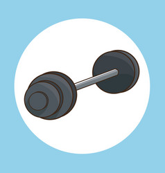 Barbell weight gym work vector