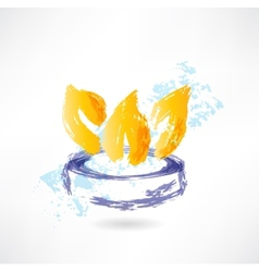 burner grunge icon vector image