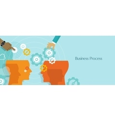 business process gears management work flow vector image vector image