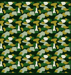 camouflage spots green seamless pattern vector image