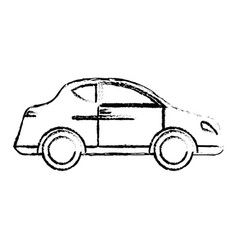 Car transport vehicle style sketch vector