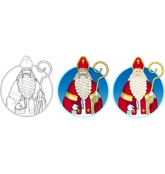 Christmas character sinterklaas set vector
