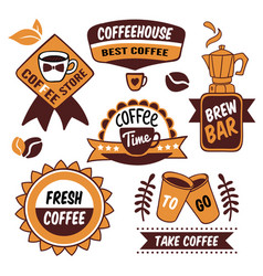 coffee to go logos vector image