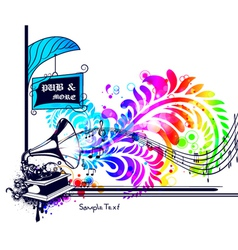 colorful music vector image vector image