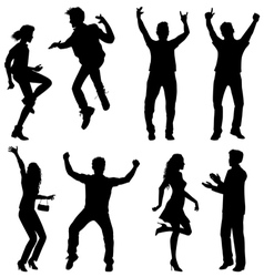 Dance jumping vector