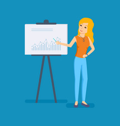discuss business issues with audience colleagues vector image vector image