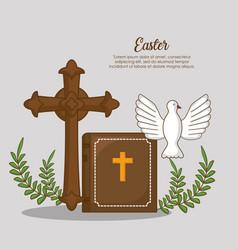 Easter celebration design vector