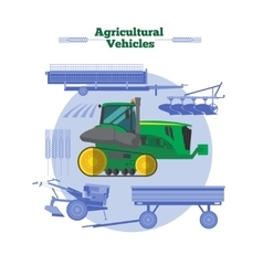 Farm Machines Flat Design vector image