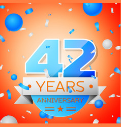 Forty two years anniversary celebration vector
