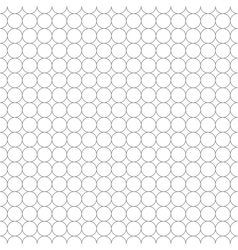 Gray grid made up of five millimeters circles vector image