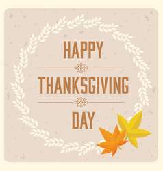 Happy thanksgiving day typographic logotype vector