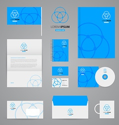 Identity template vector image