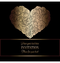 Invitation decorative golds 34 vector