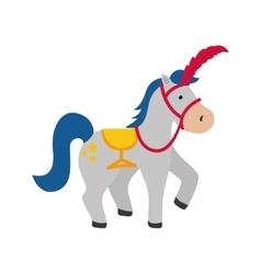Isolated horse cartoon vector