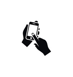 isolated touch icon keep element can be vector image