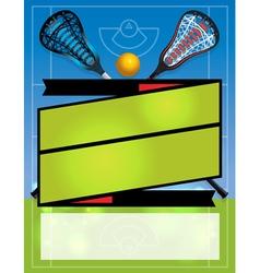 Lacrosse league banner vector