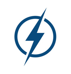 Lightning logo design vector