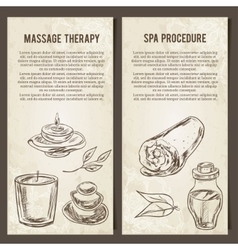 Massage spa and relax procedure set of vector