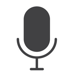 microphone glyph icon web and mobile record sign vector image