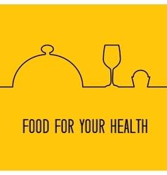 Munu food design vector image
